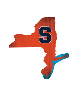Syracuse Orangemen State Wood Sign