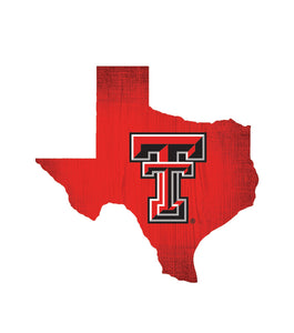 Texas Tech Red Raiders State Wood Sign