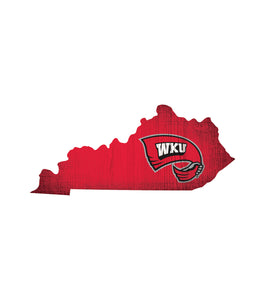 Western Kentucky Hilltoppers State Wood Sign