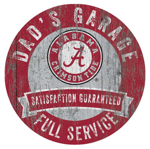 Alabama Crimson Tide Dad's Garage Sign