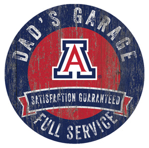 Arizona Wildcats Dad's Garage Sign