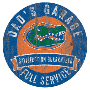Florida Gators Dad's Garage Sign