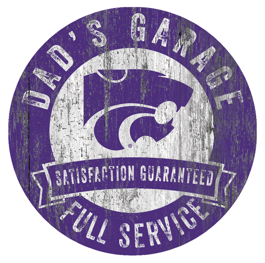 Kansas State Wildcats Dad's Garage Sign