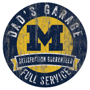 Michigan Wolverines Dad's Garage Sign