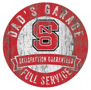 NC State Wolf Pack Dad's Garage Sign