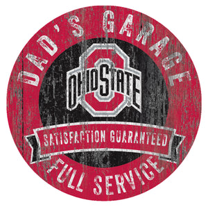 Ohio State Buckeyes Dad's Garage Sign