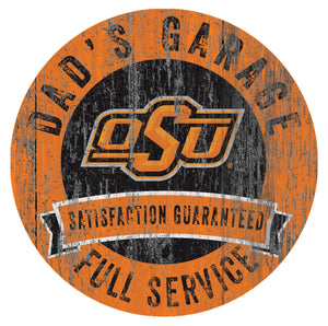 Oklahoma State Cowboys Dad's Garage Sign