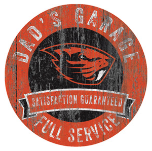 Oregon State Beavers Dad's Garage Sign