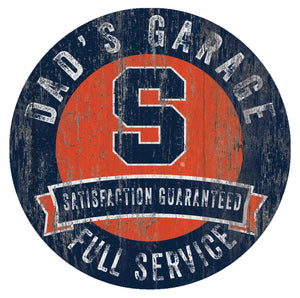 Syracuse Orangemen Dad's Garage Sign