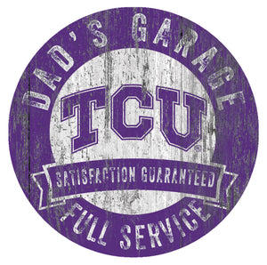TCU Horned Frogs Dad's Garage Sign