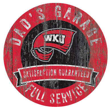 Western Kentucky Hilltoppers Dad's Garage Sign