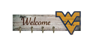 "West Virginia Mountaineers Coat Hanger - 24""x6"""