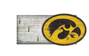 "Iowa Hawkeyes Key Holder 6""x12"""