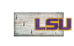 "LSU Tigers Key Holder 6""x12"""