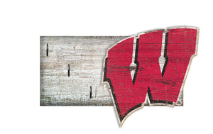 "Wisconsin Badgers Key Holder 6""x12"""