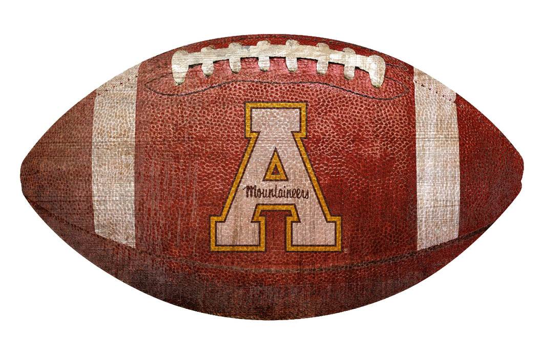Appalachian State Mountaineers Football Shaped Sign Wood Sign