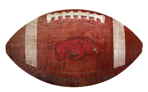 Arkansas Razorbacks Football Shaped Sign Wood Sign