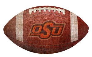 Oklahoma State Cowboys Football Shaped Sign Wood Sign