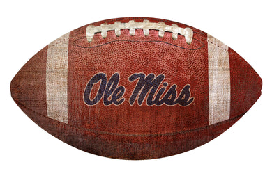 Ole Miss Rebels Football Shaped Sign Wood Sign