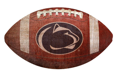 Penn State Nittany Lions Football Shaped Sign Wood Sign
