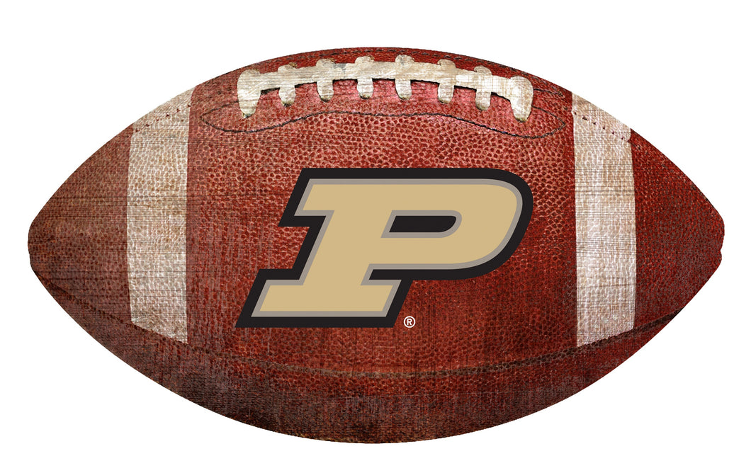 Purdue Boilermakers Football Shaped Sign Wood Sign
