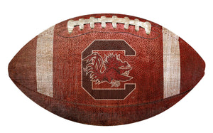 South Carolina Gamecocks Football Shaped Sign Wood Sign