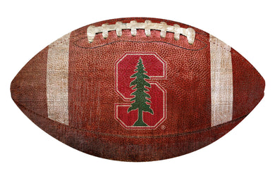 Stanford Cardinal Football Shaped Sign Wood Sign