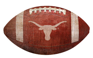 Texas Lonhorns Football Shaped Sign Wood Sign