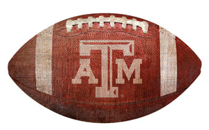 Texas A&M Aggies Football Shaped Sign Wood Sign