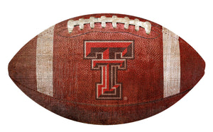 Texas Tech Red Raiders Football Shaped Sign Wood Sign