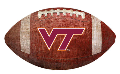 Virginia Tech Hokies Football Shaped Sign Wood Sign
