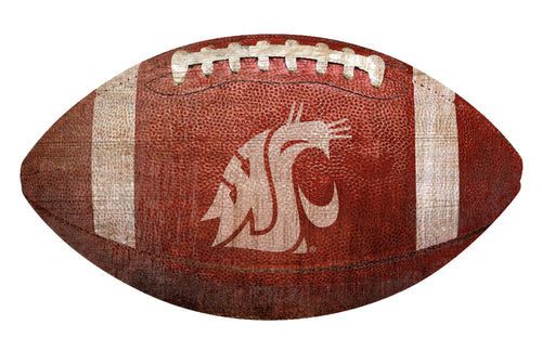 Washington State Cougars Football Shaped Sign Wood Sign