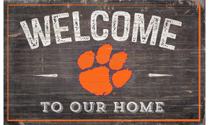 "Clemson Tigers Welcome to Our Home Sign  - 11""x19"""