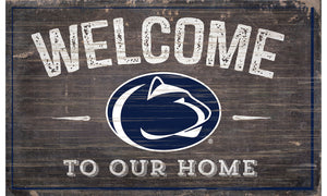 "Penn State Nittany Lions Welcome to Our Home Sign  - 11""x19"""