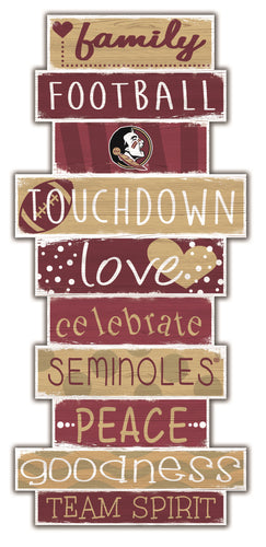 Florida State Seminoles Celebrations Stack Wood Sign -24