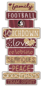 Florida State Seminoles Celebrations Stack Wood Sign -24""
