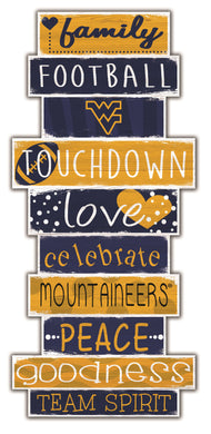 West Virginia Mountaineers Celebrations Stack Wood Sign -24