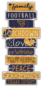 West Virginia Mountaineers Celebrations Stack Wood Sign -24""