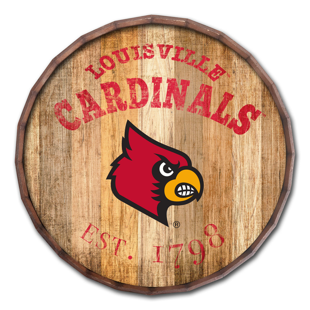 Louisville Cardinals Established Date Barrel Top