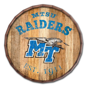 Middle Tennessee State Blue Raiders Established Date Barrel Top