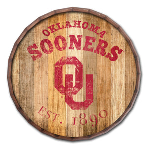 Oklahoma Sooners Established Date Barrel Top
