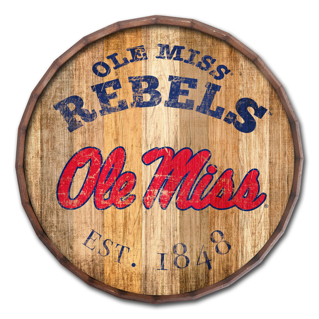 Ole Miss Rebels Established Date Barrel Top