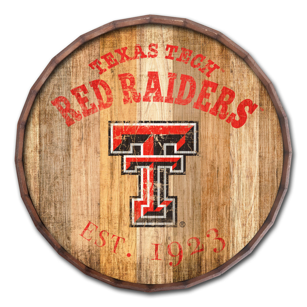 Texas Tech Red Raiders Established Date Barrel Top