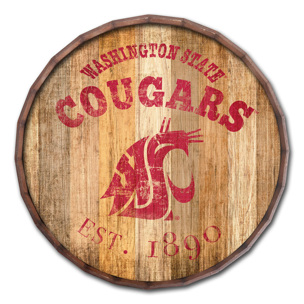 Washington State Cougars Established Date Barrel Top -24
