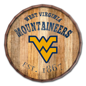 West Virginia Mountaineers Established Date Barrel Top -24""