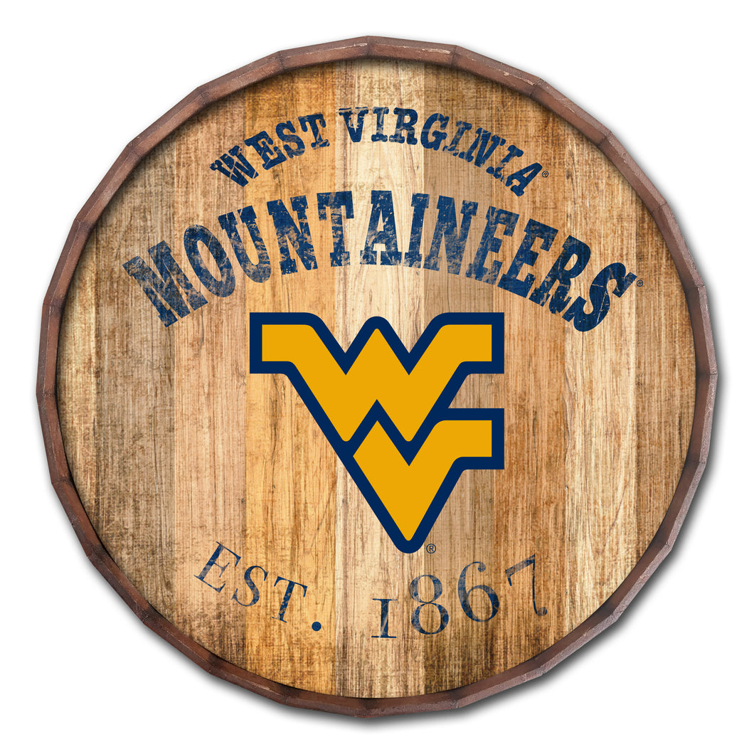 West Virginia Mountaineers Established Date Barrel Top -24