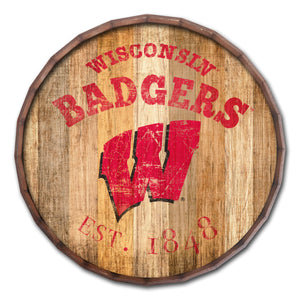 Wisconsin Badgers Established Date Barrel Top -24""