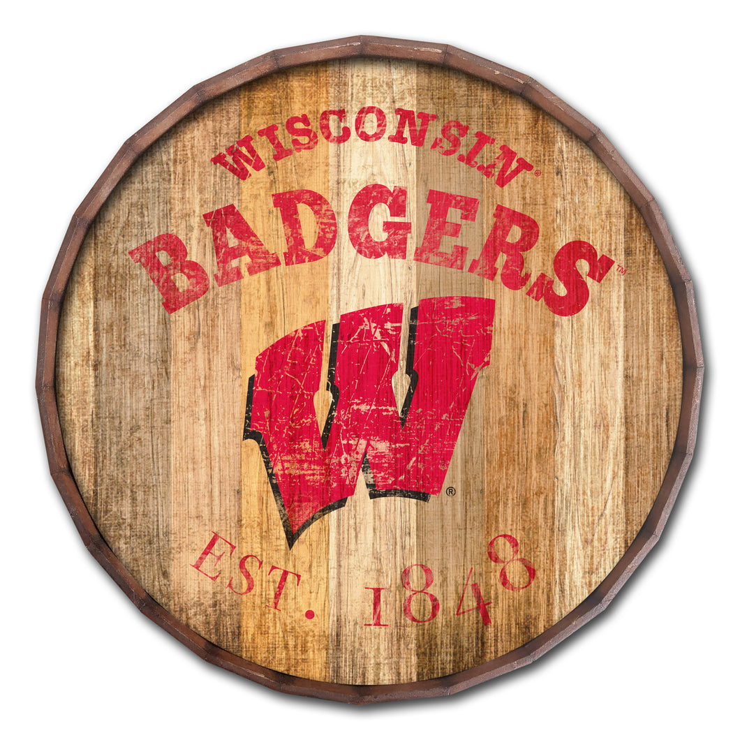 Wisconsin Badgers Established Date Barrel Top -24