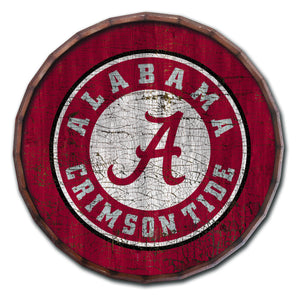 Alabama Crimson Tide Cracked Color Barrel Top -24""