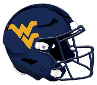 West Virginia Mountaineers Authentic Helmet Wood Cutout